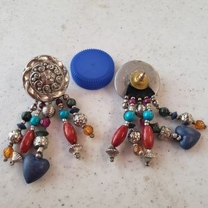 Vintage colorful dangling earrings